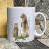 White mug - Papa bear design