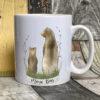 White mug - Mama bear design