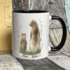 Black mug - Papa bear design