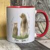 Red mug - Papa bear design