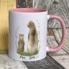 Pink mug - Papa bear design