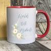 Blush - World's best Midwife Mug on red mug