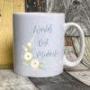 Blush - World's best Midwife Mug on white
