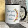 Bright - Sipping tea midwife mug - Black