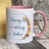 Bright - Sipping tea midwife mug - Pink