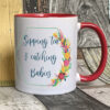 Bright - Sipping tea midwife mug - Red