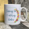 Bright - Sipping tea midwife mug - White
